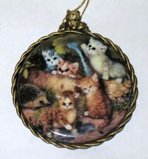 """Kitten Cats Expeditions Ornament """" ON THE GARDEN PATH  """" 1997 Bradford Exchange"""