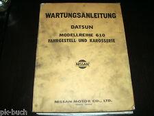 Werkstatthandbuch Nissan Datsun Modell 610 Fahrgestell / Karosserie 06/1974