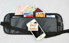 Travel Hidden Compact Security Flat BODY Money Passport Waist Belt Pouch Bum Bag