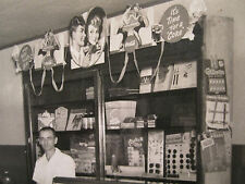 ANTIQUE AMERICAN SODA SHOP STORE COCA COLA SIGNS AD CANDY COMIC BOOKS RARE PHOTO