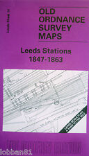 Old Ordnance Survey Map Leeds Stations 1847-1863  Large Scale Sheet Leeds 14 New