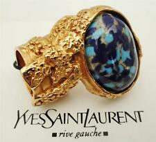 YVES SAINT LAURENT YSL Arty Gold-plated Cocktail Ring SZ4- Boxed