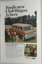 1971 Ford ad, Ford Club Wagon van, W.S. & S. Steam Loco