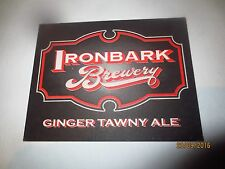 1 only IRONBARK BREWERY,New South Wales. collectable COASTER 1 / sided RARE