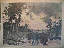 LANDES IMMENSE INCENDIE DE FORET MORGUE ENFANT MARTYR LE PETIT MARSEILLAIS 1898