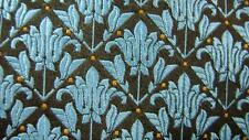 TED BAKER LONDON BROWN BLUE FLORAL ART USA SILK NECKTIE TIE HFE2817A #B09
