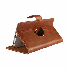 100% Real Leather Nano Case For Sony Xperia E1 - 360 Brown S