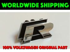 VW Volkswagen R Line Scirocco Badge Front Grille Push Clip R Emblem GENUINE