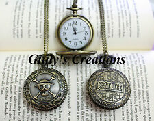 Collana con orologio funzionante ONE PIECE Rubber Teschio logo manga Anime Japan
