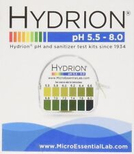 Hydrion Body pH TEST Tape Strip Paper Urine Saliva Dispenser 5.5-8.0 Lab MPN 067