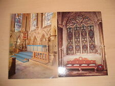 2 ROYAL AIRFORCE Postcards Airmens Chapel Lincoln Window Ely Cathedral Unused