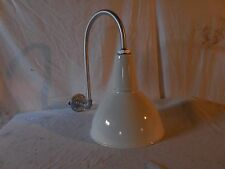 Vintage Barn Light Industrial BENJAMIN Yard Sign Porcelain Shade  Hook Arm 12""