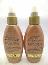 (2) Organix Ever Straight Brazilian Keratin Therapy Smoothing Treatment 3.3 oz