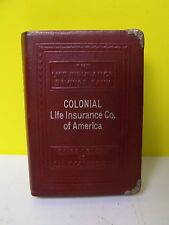 Vintage Advertising COLONIAL LIFE INSURANCE Co OF AMERICA - Still Bank BOOK BANK