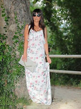 Zara Pink Ivory Floral Full Length Two Piece Flattering Strappy Dress size M
