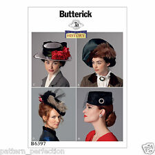 Butterick 6397 Sewing Pattern to MAKE Making History Misses' Hats in Four Styles