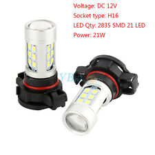 2x White 5202 H16 Fog or Daytime Running Lights For High Power Samsung LED Bulbs