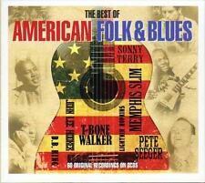 THE BEST OF AMERICAN FOLK & BLUES - 60 RECORDINGS - VARIOUS ARTISTS (NEW 3CD)