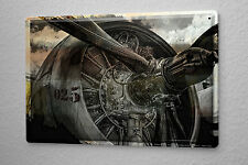 Tin Sign Airplane Airport  turbine propeller Wall Vintage Decoration Metal Plate