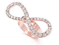 New One Of The Kind Rose Gold Tone Infinity Adjustable Ring