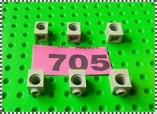 705 LEGO Part 6541 Old Light Grey Technic, Brick 1 x 1 with Hole x 6 Pieces