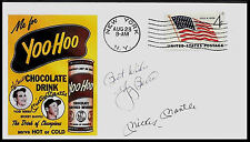 1960 Mickey Mantle Yoo-Hoo Drink Ad Featured on Collector's Envelope *A513