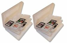 2 x 24 GAME CARD CASE HOLDER for NINTENDO 3DS DS and SD CARTS UK Seller