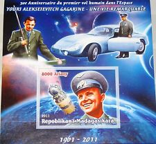 MADAGASKAR MADAGASCAR 2011 unlisted Jury Gagarin 50th Ann 1st Man in Space MNH 3