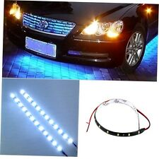 30cm 12V 15 LEDs Car Auto Motorcycle Waterproof Strip Lamp Flexible Light GO