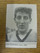 22/09/1962 Soccer Star Magazine: Cut-Out - Brighton And Hove Albion - Goodchild,