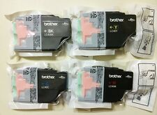 Genuine Brother LC40 Ink Cartridges set LC40 BK/C/Y/M J430W J432W J625DW J825DW