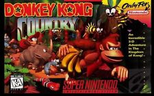"Super Nintendo Snes (2.5"" X 3.5"" FRIDGE MAGNET)  DONKEY KONG COUNTRY  BOX COVER"