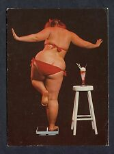 """Comic - Weight Loss """"Another Day, Another Pound"""". Stamp/Postmark - 1982."""