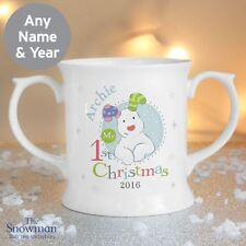 The Snowman and the Snowdog 1st Christmas Personalised Mug Souvenir Baby Gift