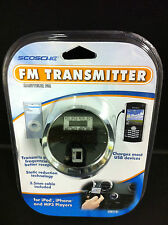 Scosche FM Transmitter+USB Car Charger w/AUX Cable for iPhone 6/s/Plus/5S/4S