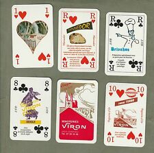 Collectible Vintage advertising playing cards Minoteries Viron