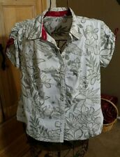 IZOD Womens Button Front Top ~ Size XL
