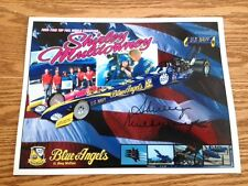 """SUPER RARE AUTOGRAPHED SHIRLEY MULDOWNEY US NAVY BLUE ANGELS 8"""" X 10"""" HANDOUT!"""