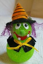 HALLOWEEN DECORATION cute WITCH LIGHT WORKS for desk table office or home Used