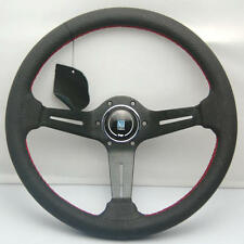 NARDI STYLE 350mm LEATHER STEERING WHEEL OMP NARDI SPARCO BF BLACK SET