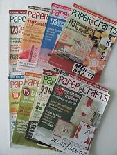 PAPER CRAFTS Magazine Card Making Ideas Lot of 16 Back Issues 2007 2008 2009