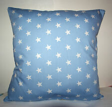 "COOL RETRO PALE BLUE STARS  CUSHION COVER 16""x16"""