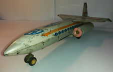 Vintage rare toy tin litho JETLINER ME 671 plane airplane China battery operated