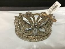 Pottery Barn Kids Tiara Crown ORNAMENT Princess Christmas GIRL Birthday GIFT NEW