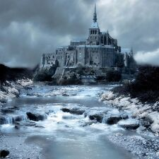 """perfect 30x30 oil painting handpainted on canvas""""Mysterious castle"""" NO4378"""