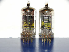2 x 12AX7A Raytheon-Baldwin Tubes*Long Black Plates*Very Strong & Matched*#6