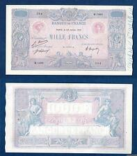 1000 Francs Bleu et Rose Type 1889  - 22-1-1921 M.1498 Qualité TTB +