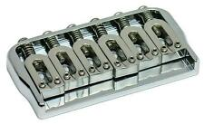 "Hipshot Fixed 6-string Hardtail Guitar Bridge, .125"" Floor,  CHROME"
