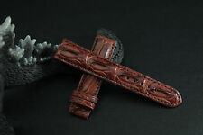 20mm Brown Genuine CROCODILE LEATHER SKIN WATCH STRAP BAND! FREE SHIPPING.