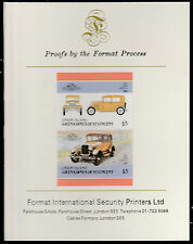 St Vincent (1577) - Ford Model A CAR imperf on Format International PROOF  CARD